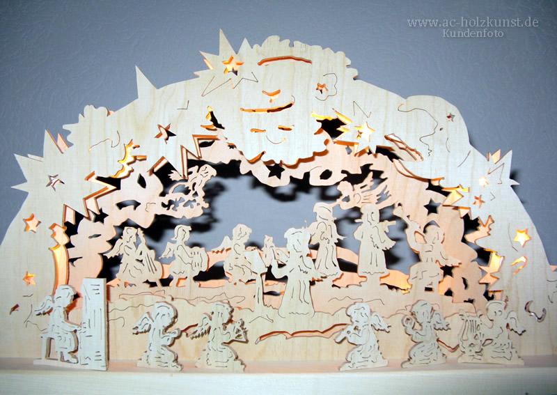 3D Schwibbogen Engelpassion Laubsägearbeit