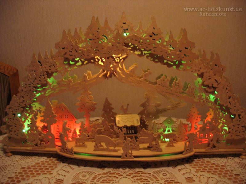 3D Schwibbogen Waldlichtung