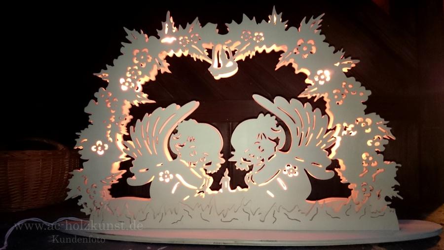 Laubsägearbeit Leuchter Engel
