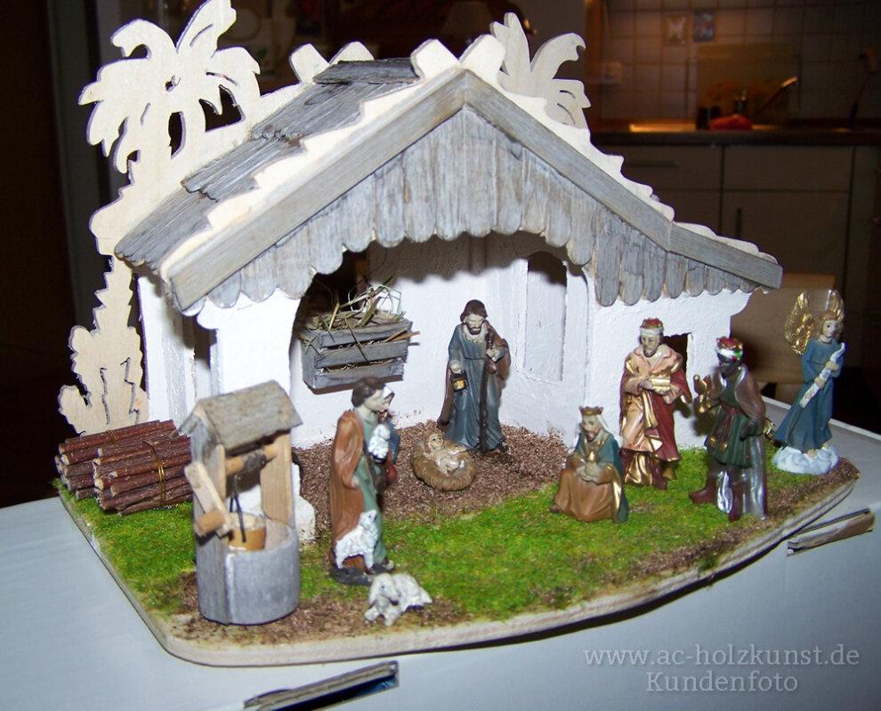 """Vorlage Miniatur Haus """"Stall mit Krippe"""" AC Holzkunst"""