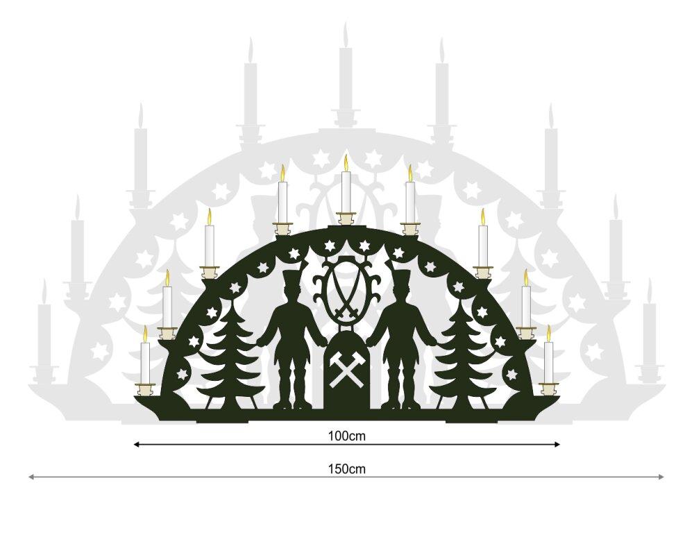 Vorlage Xxl Schwibbogen Bergmann Mit Wappen