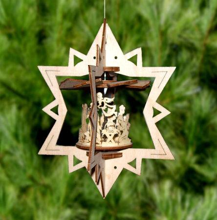 Bastelset Mini Hängepyramide Aus Holz Windspiel Stern Ac Holzkunst