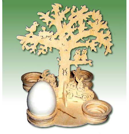 Laubsägevorlage Ostern Frühlingsbaum Osterei Halter 15cm Ac Holzkunst